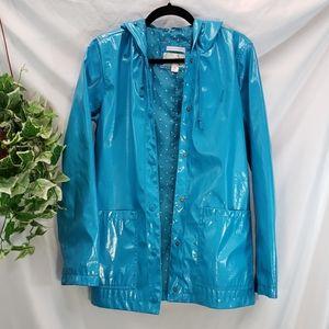 EUC Beautiful Blue Raincoat